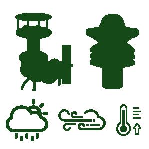 Icones estacao meteorologica compacta