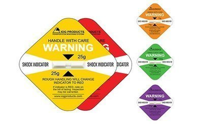 Adesivos de choque altamente visíveis