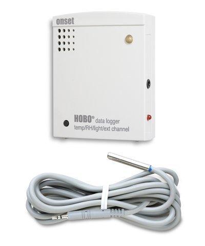 Data Logger Temperatura / Umidade / Luminosidade / Canal Externo Hobo + Sensor Temperatura do ar / água / solo (6 pés) - U12-012 + TMC6-HD