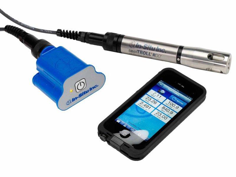 Sonda Portátil para Medição de Oxigênio Dissolvido Óptico Operável Via Celular Android SmarTroll RDO